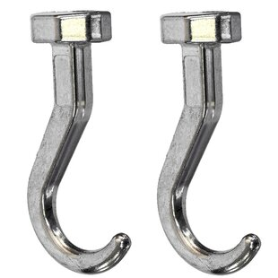 Zinc Short Hook (Set of 2)
