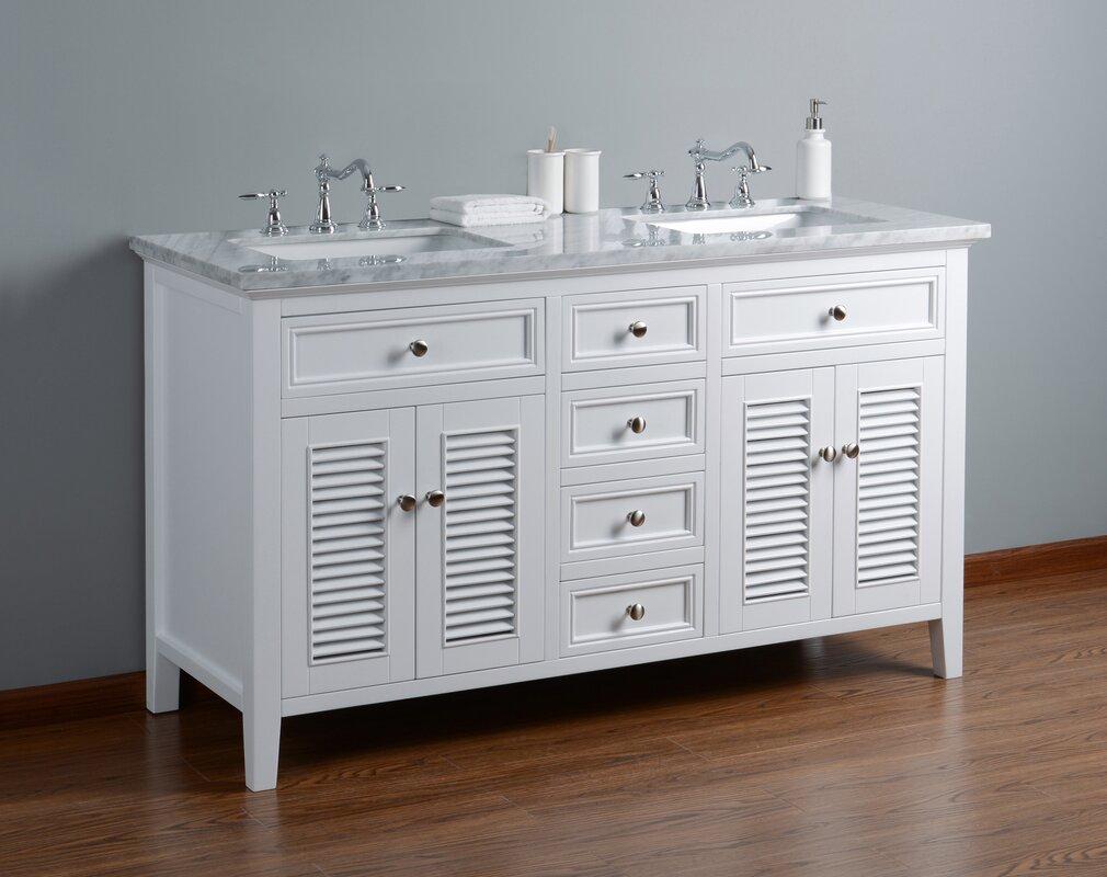 Longshore tides gowan 60 double bathroom vanity set reviews gowan 60 double bathroom vanity set geotapseo Image collections