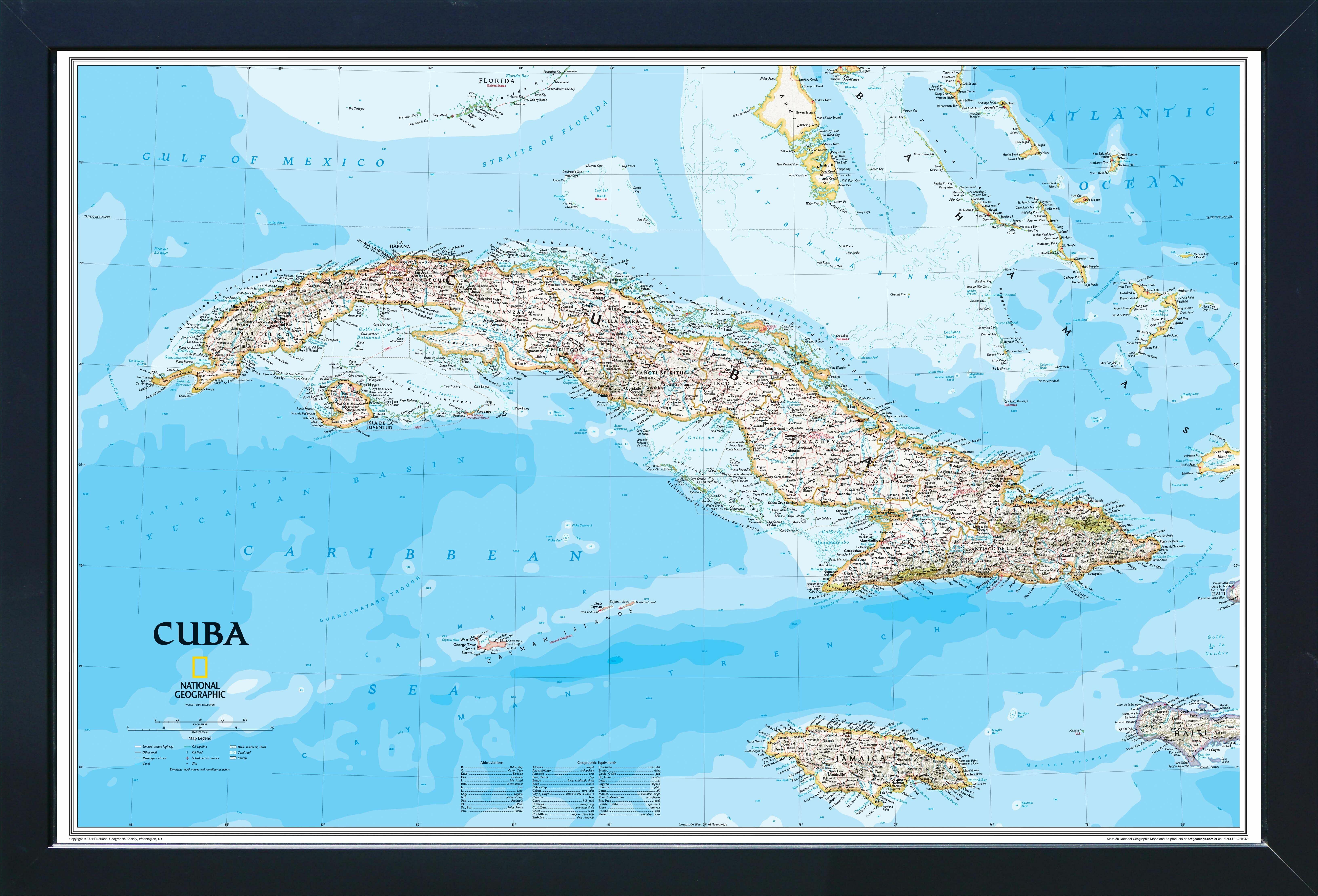 Breakwater Bay Katharina Magnetic Travel Map National Geographic Cuba Classic Wayfair