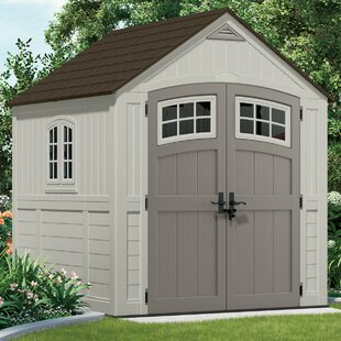 Suncast Cascade 7 ft. 4 in. W x 7 ft. 3 in. D Plastic Storage Shed