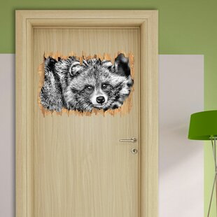 Shy Racoon Wall Sticker By East Urban Home