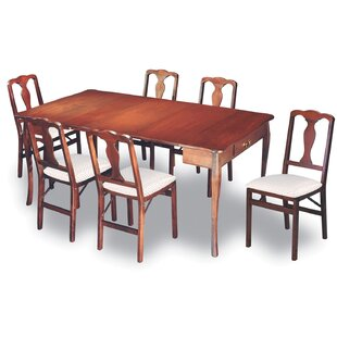 Divernon Traditional Expanding 7 Piece Dining Set