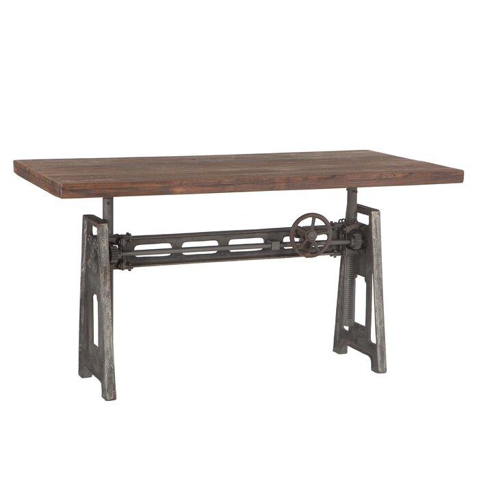Napier Reclaimed Adjule Teak Wood Standing Desk