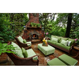 Panama 6 Piece Sunbrella Sofa Seating Group with Cushions by Peak Season Inc.