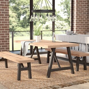 Laurel Foundry Modern Farmhouse Guillaume 3 Piece Dining Set