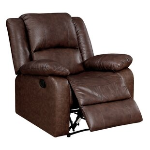 Boardwalk Leather Manual Glider Recliner