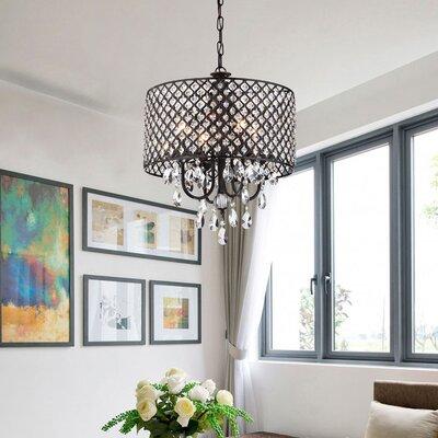 Birch lane camilla 9 light candle style chandelier reviews clemence 4 light drum chandelier aloadofball Image collections