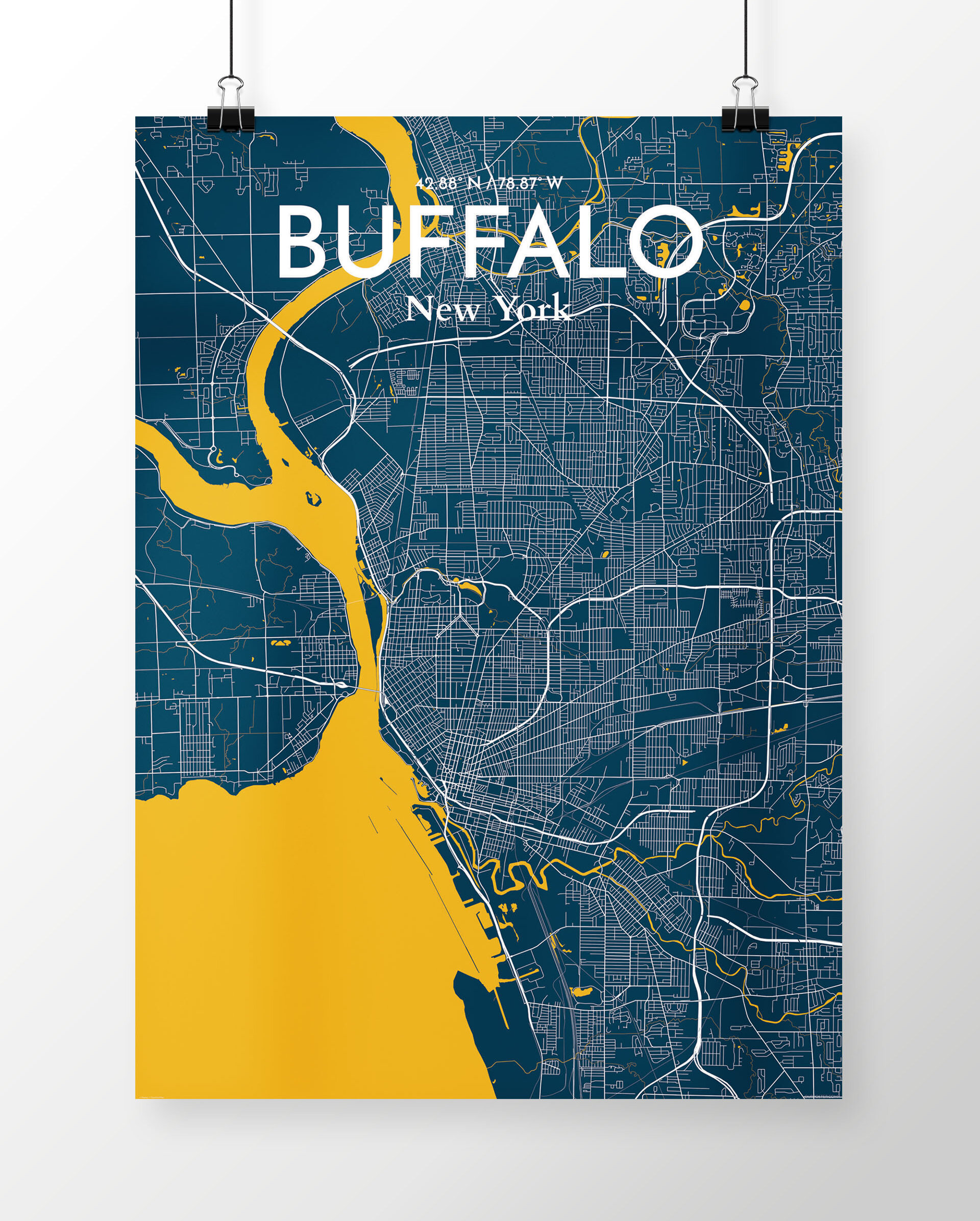 'Buffalo City Map' Graphic Art Print Poster in Blue on wind point map, the atlanta map, niagara falls map, st francis map, watertown map, rochester map, utica map, yellowstone river map, cincinnati map, toledo map, boston map, new york map, cooperstown ny on a map, fair grove map, indianapolis map, grand island map, college at brockport map, jacksonville map, blooming grove map, town of wheatfield map,