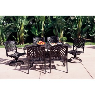 Fleur De Lis Living Lincolnville 7 Piece Dining Set with Cushions