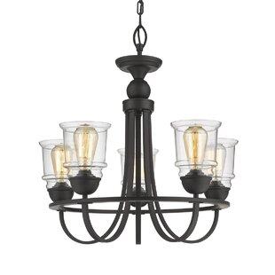 Gracie Oaks Tristian 5-Light Shaded Chandelier