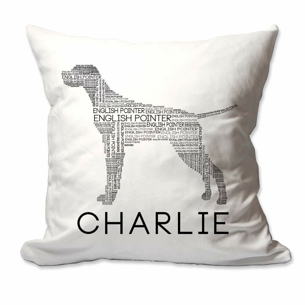 Winston Porter Conorich Personalized English Pointer Dog Breed Word Silhouette Throw Pillow Cover Wayfair