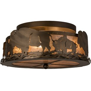 Wymore 4-Light Semi Flush Mount by Loon Peak