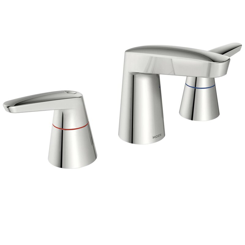 Moen M-Dura Widespread Standard Bathroom Faucet & Reviews | Wayfair