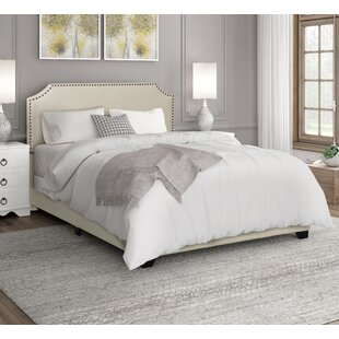 Upholstered Bed With Wood Trim Wayfair