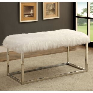 Everly Quinn Agrippa Contemporary Metal/Metal Bench