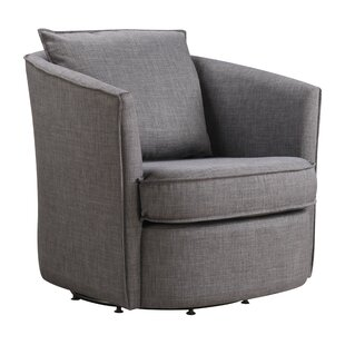Truman Opal Swivel Armchair by Ivy Bronx