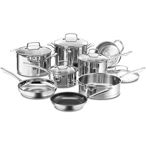 Professional Series Stainless Steel 13-Piece Cookware Set
