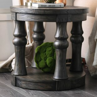 Siri Antique Gray End Table by Loon Peak