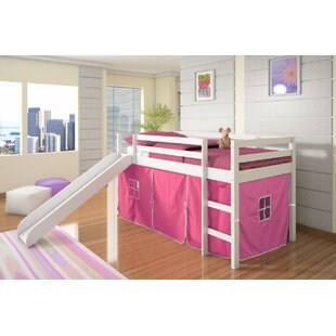 Affordable Ogden Tent Twin Low Loft Bed with Slide By Harriet Bee
