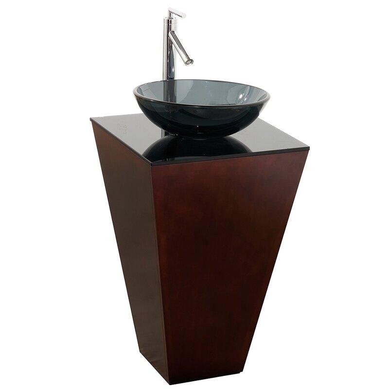 Esprit 20 1 Single Pedestal Bathroom Vanity Set With Mirror