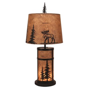 Annalise Feather Tree Mission 27 Table Lamp