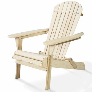 Hagan Garden Outdoor Wood Folding/Lightweight Adirondack Chair by August Grove