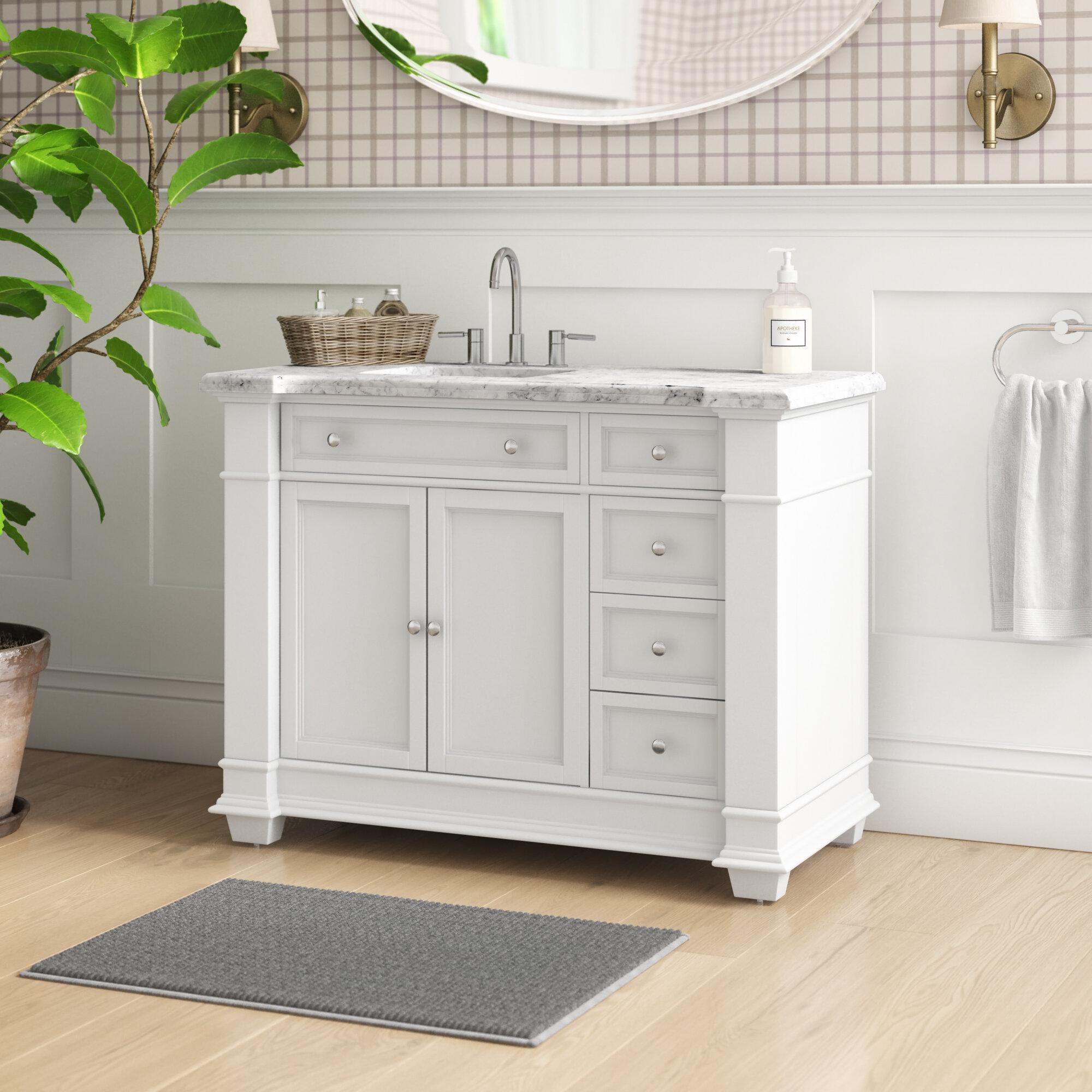 Darby Home Co Riccardo 48 Single Bathroom Vanity Set Reviews Wayfair