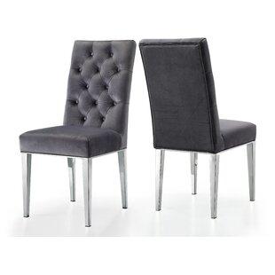 Everly Quinn Marshall Velvet Dining Chair (Set of 2)