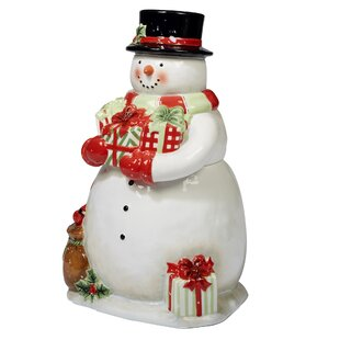 Delilah 3-D Snowman 2.18 Qt. Cookie Jar by The Holiday Aisle Herry Up