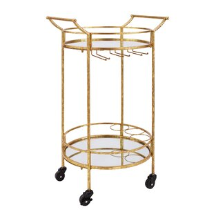Best Reviews Round Metal Bar Cart By House of Hampton