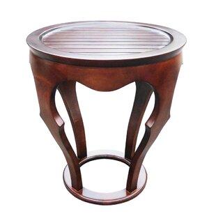 Gateshead Living Room Mahogany Solid Veneer Wood Curved End Table By Alcott Hill