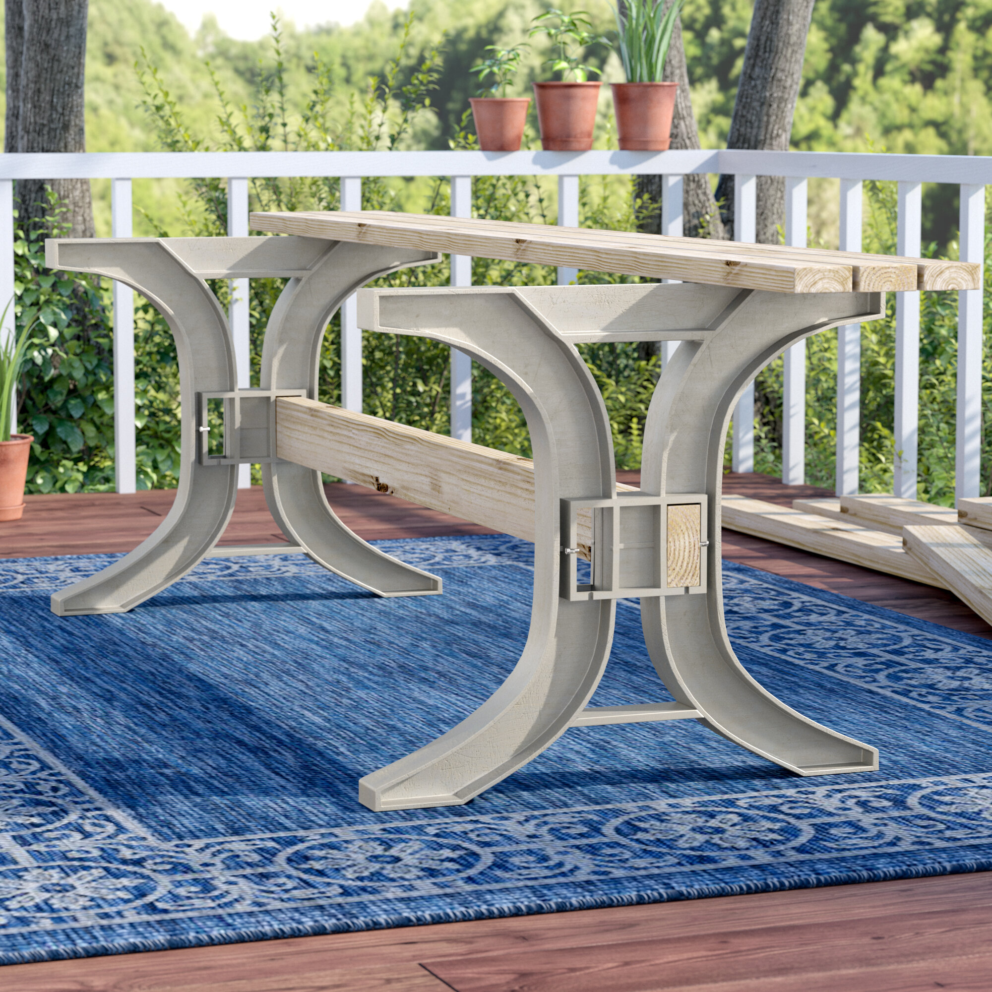 Charlton home westview patio dining table legs reviews wayfair