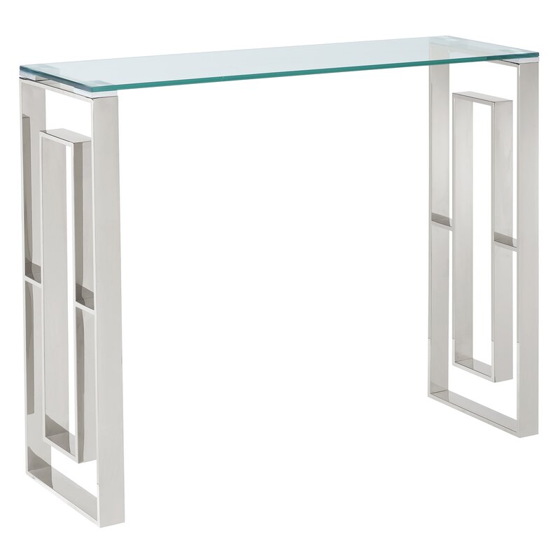 Menchaca Stainless Steel Console Table