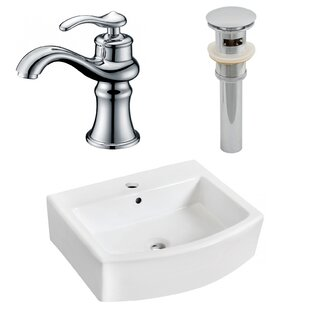 Online Reviews Above Counter Ceramic Rectangular Vessel Bathroom Sink with Faucet and Overflow By Royal Purple Bath Kitchen