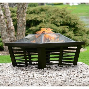 Hudson Steel Wood Burning Fire Pit By Pleasant Hearth