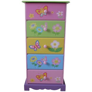 Butterfly Garden 5 Drawer Chest of Drawers by Liberty House Toys