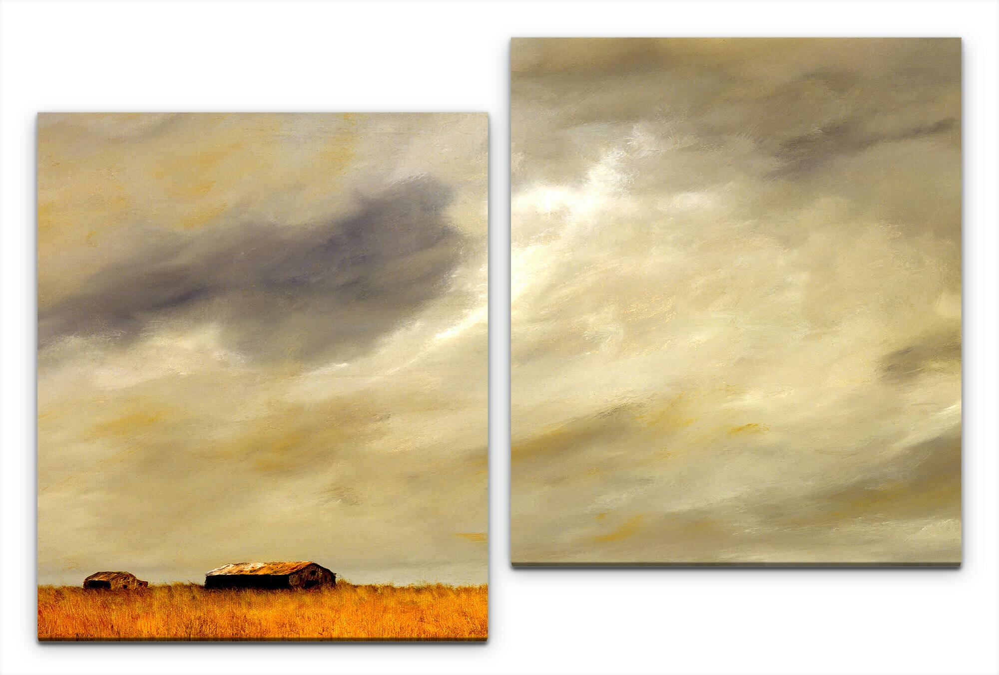 East Urban Home Landscape 2 Piece Photograph Set On Canvas Wayfair Co Uk