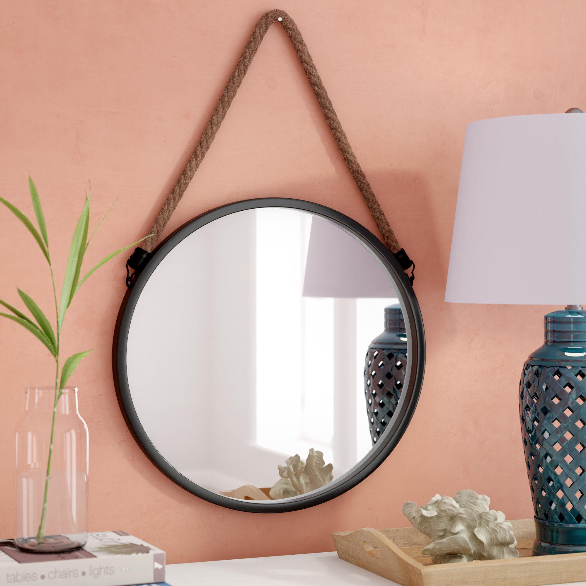 Rumfelt Decorative Round Metal Wall Mirror