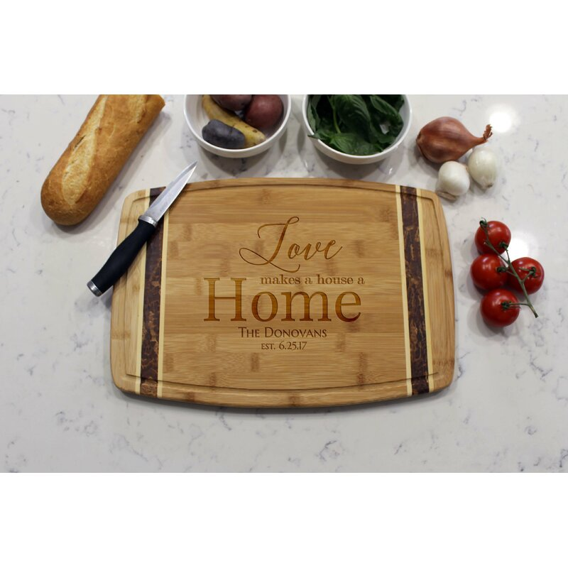Etchey Marble Bamboo Cutting Board Wayfair