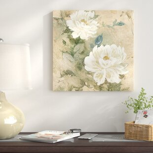 White flower painting wayfair white flowers i painting print on canvas mightylinksfo