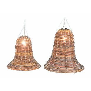 Inexpensive Lakeshore 1-Light Outdoor Pendant (Set of 2) By Fantastic Craft