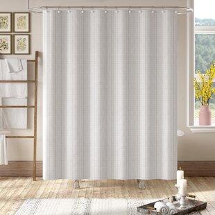Best Reviews Grand Encampment Natural Shower Curtain ByLaurel Foundry Modern Farmhouse
