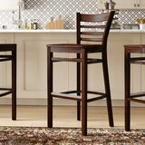 Beechwood Ladder Back Wood Seat Bar & Counter Stool by Regal