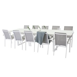 Donelson Extendable Dining Set With 10 Chairs By Mercury Row