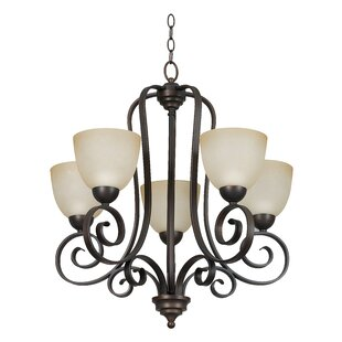 Beedeville 5-Light Shaded Chandelier by Fleur De Lis Living