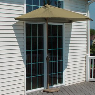 Blue Star Group Off-The-Wall Brella 9' Half Market Umbrella