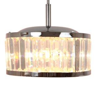 Mercer41 Roe Crystal 3-Light Drum Pendant