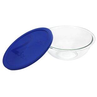 Smart Essentials 2.5 Qt Mixing Bowl with Blue Plastic Cover