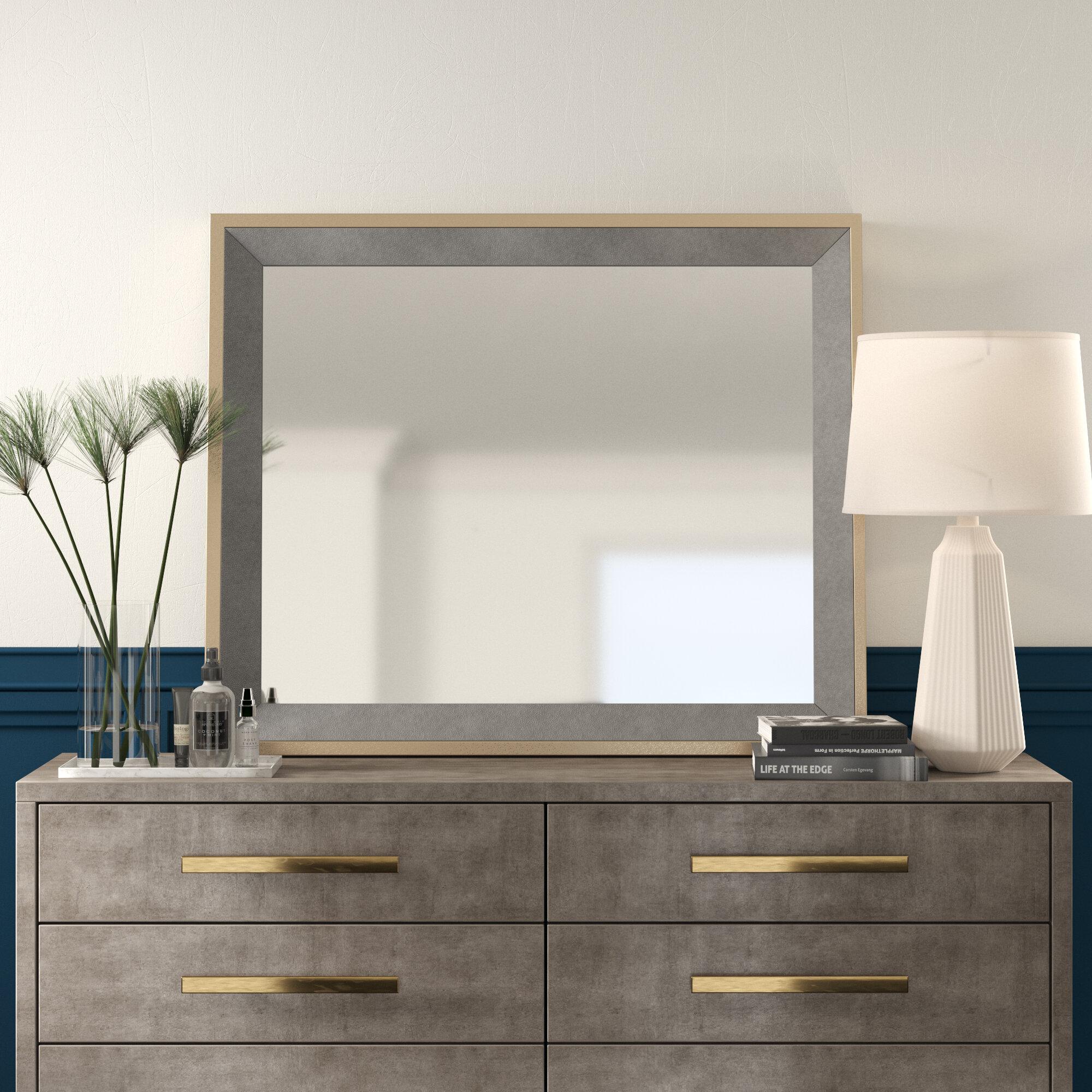 Capitol Modern Contemporary Beveled Dresser Mirror Allmodern