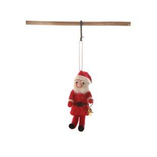 beebe wool felt santa ornament hanging figurine
